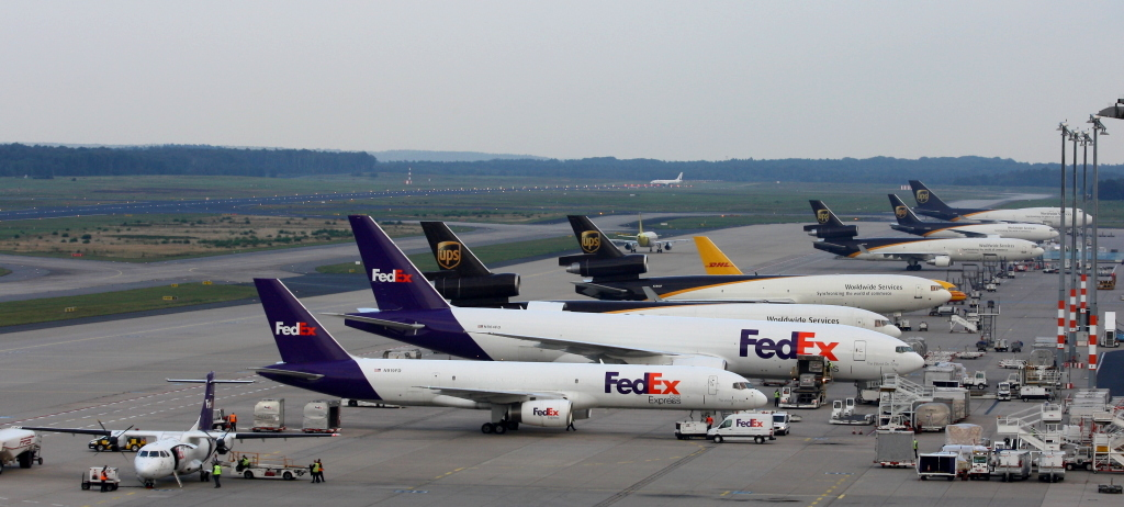 Freight Ramp at CGN, 03/09/12